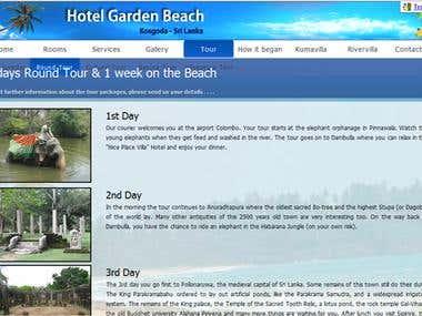 Hotel Garden Beach Official Website- www.hotelgardenbeach.lk