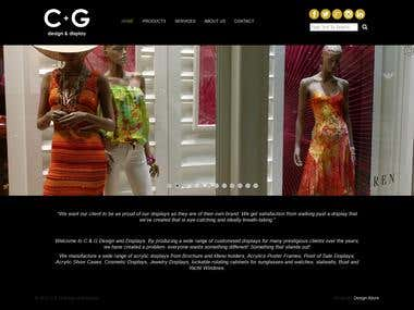 C+G Design & Display Website Design