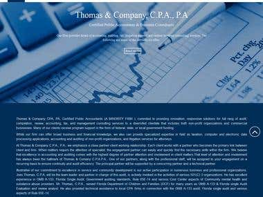 Thomas & Company Website Design & Developing