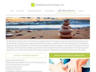 INTEGRATIVE PSYCHOLOGY - Web design and development