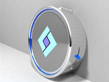 Smart Lock 3D modelling