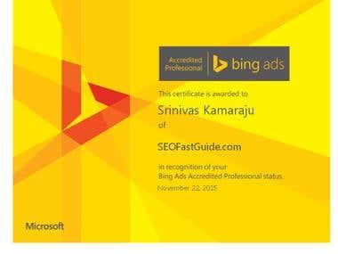 Bing Ads Certified