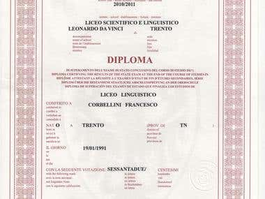 High School Certificate in Foreign Languages