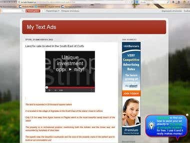 My text ads