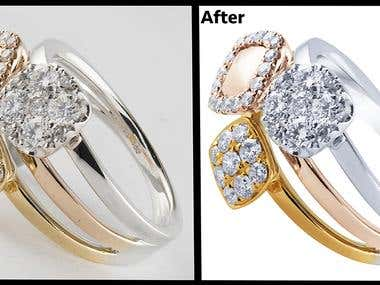 jewel retouching