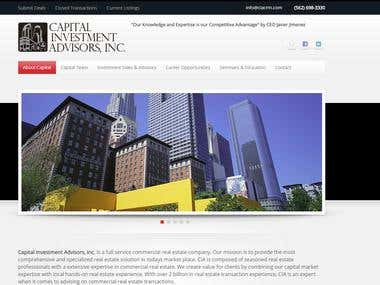 High level Website Design for CIACRM