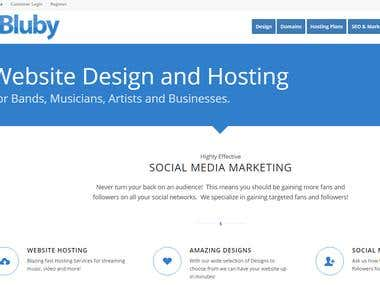 Impressive Website Design for Bluby