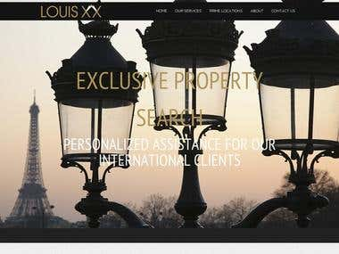 Louis XX is a one page website created using Wordpress