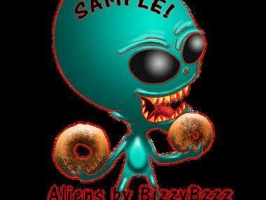 Aliens for Number 1 Donut