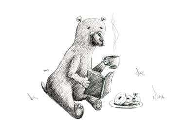Pencil Drawing - Bear