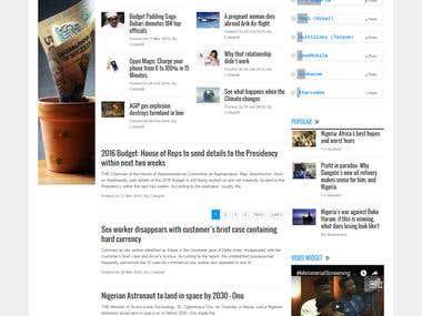 Blog and Forum base website with social media integration