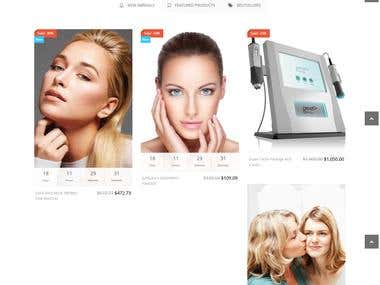Beauty and spa Shopping cart Website
