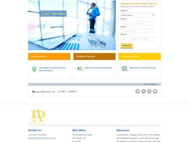 Finance Website Design and Development