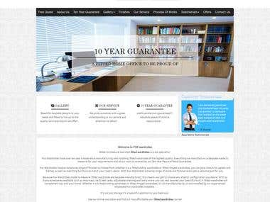 Customization of Custom website - http://www.foxwardrobes.co