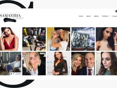 Website Design for a Famous Makeup Artist in Australia