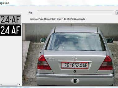 License plate recognition in C#