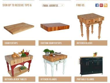 Furniture Company Website