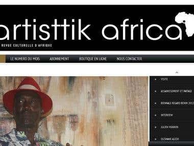 Site web de la revue culturelle d'Afrique