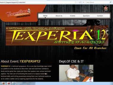 TEXPERIA'12 [ web site ]