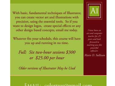 Illustrator Flyer