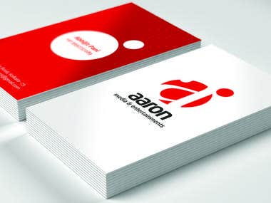 Aaron Media Logo & Business card