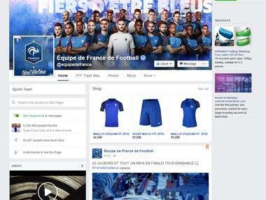 Facebook Store Visual, installation and promotion.