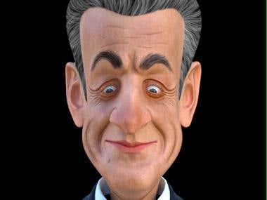 Sarcozy 3d caricature