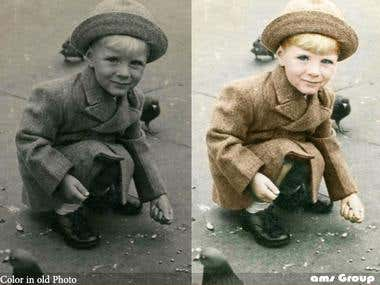 Color in old photos
