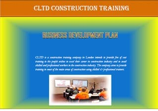 Business Plan of Construction Training