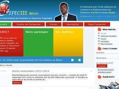 Site web du CIFEC Bénin
