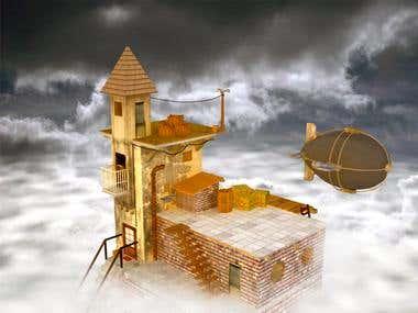 house on cloud