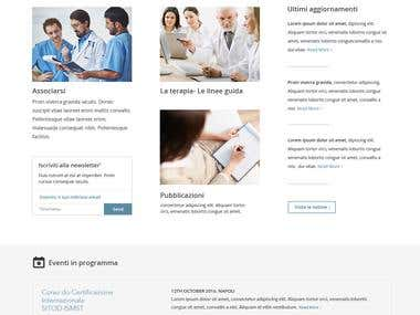 Design a Corporate Website Mockup for a Medical Association