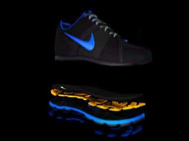 3D Animation of sneakers Nike