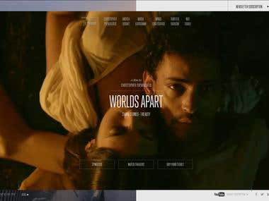 Website Design for Worlds Apart Movie