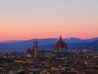 Travel Photography | View of the city of Florence, Italy