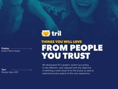 UI/UX Designed for Trill App