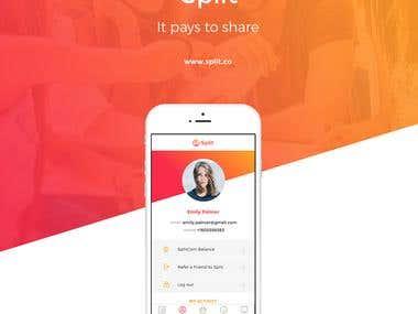 UI/UX Designed for Split App