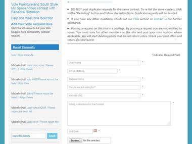 An Online Contest Website