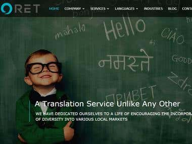 Website for Language Translator Company