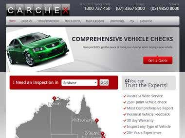 WordPress website for Automobile Company