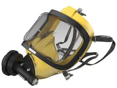Scuba Mask, modeling and rendering