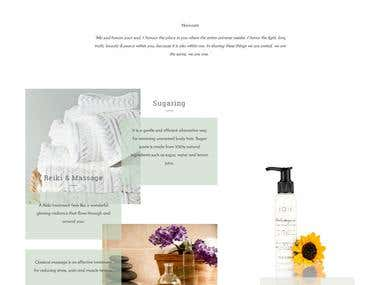 Spa and beautie Website