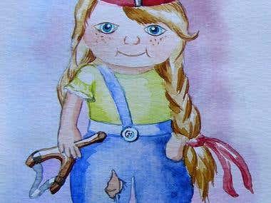 """Illustration for the children's book """"The Girls"""""""