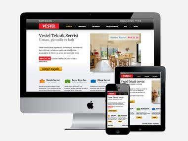 #VestelServisi 2 - A WebSite Development & Design