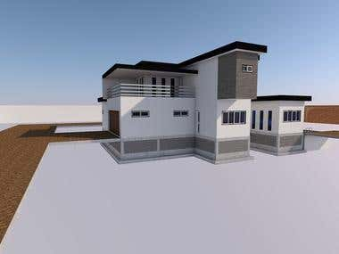 Exterior 3D Render 5 bedrooms House