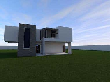 Exterior 3D Render 4bedrooms House