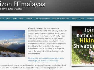 Webdesign for horizonhimalayas.com
