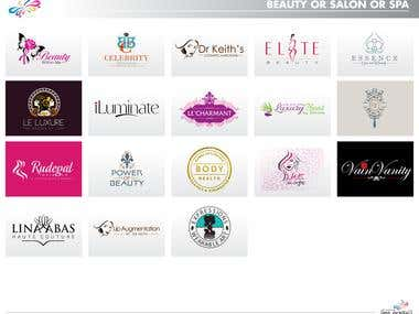 Logos for Beauty/ Spa/ Salon sectors