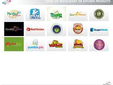 Logos for Food/ Restaurant / Kitchen Product segments
