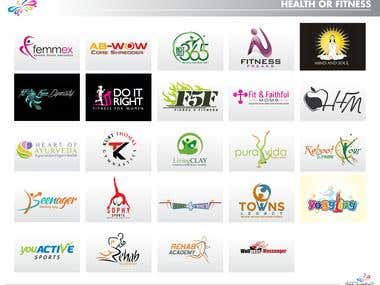 Logos related to Health and Fitness industry